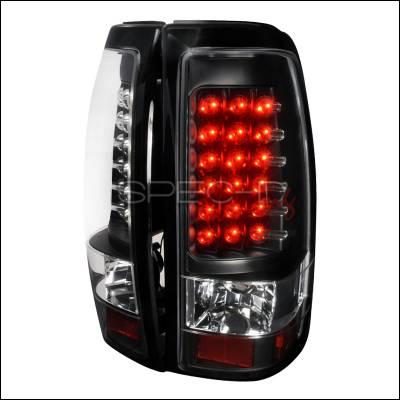 Spec-D - Chevrolet Silverado Spec-D LED Taillights - Black - LT-SIV03JMLED-TM
