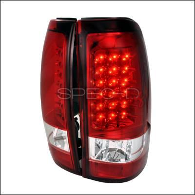 Spec-D - Chevrolet Silverado Spec-D LED Taillights - Red - LT-SIV03RLED-TM
