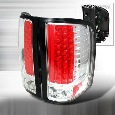 Spec-D - Chevrolet Silverado Spec-D LED Taillights - Chrome - LT-SIV07CLED-KS