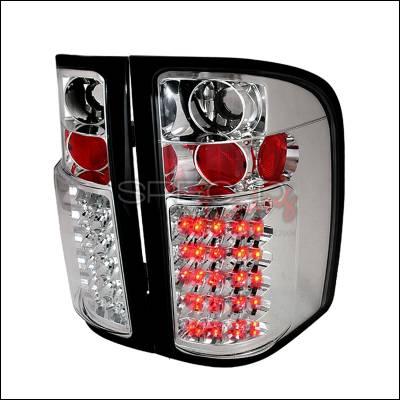 Spec-D - Chevrolet Silverado Spec-D LED Taillights - Chrome - LT-SIV07CLED-TM