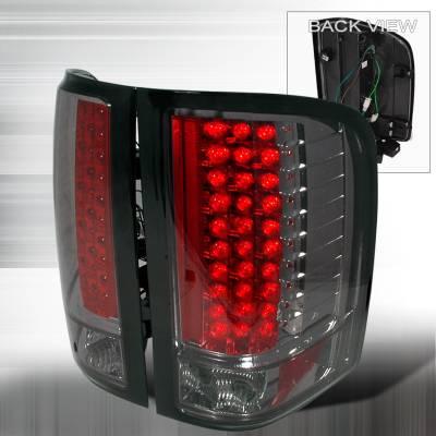 Spec-D - Chevrolet Silverado Spec-D LED Taillights - Smoke - LT-SIV07GLED-KS