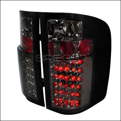 Spec-D - Chevrolet Silverado Spec-D LED Taillights - Smoke - LT-SIV07GLED-TM