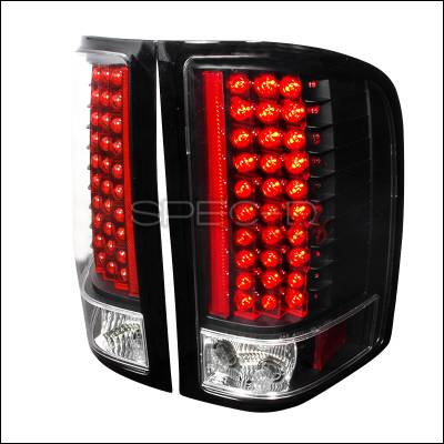 Spec-D - Chevrolet Silverado Spec-D LED Taillights - Black - LT-SIV07JMLED-KS