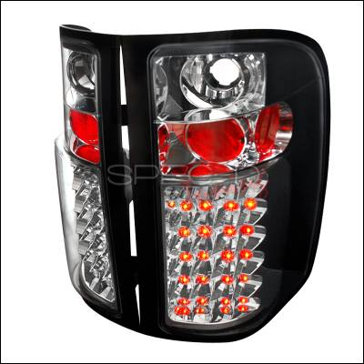 Spec-D - Chevrolet Silverado Spec-D LED Taillights - Black - LT-SIV07JMLED-TM