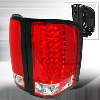 Spec-D - Chevrolet Silverado Spec-D LED Taillights - Red - LT-SIV07RLED-KS