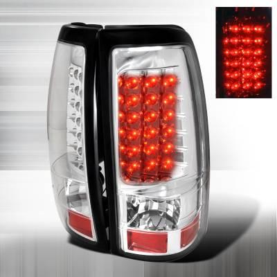 Spec-D - Chevrolet Silverado Spec-D LED Taillights - Chrome - LT-SIV99CLED-TM