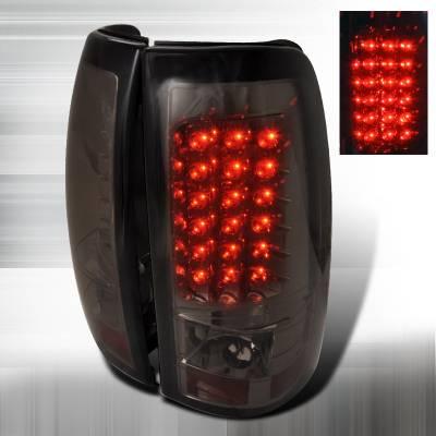 Spec-D - Chevrolet Silverado Spec-D LED Taillights - Smoke - LT-SIV99GLED-TM
