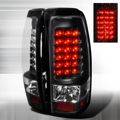 Spec-D - Chevrolet Silverado Spec-D LED Taillights - Black - LT-SIV99JMLED-TM