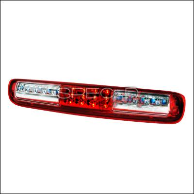 Spec-D - Chevrolet Silverado Spec-D LED Third Brake Lights - Red - LT-SIV99RBRLED-KS