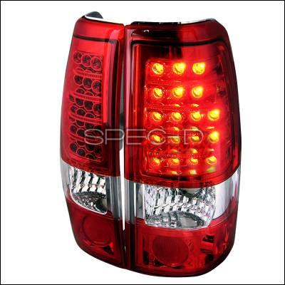 Spec-D - Chevrolet Silverado Spec-D LED Taillights - Red - LT-SIV99RLED-KS