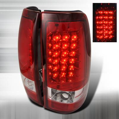 Spec-D - Chevrolet Silverado Spec-D LED Taillights - Red - LT-SIV99RLED-TM