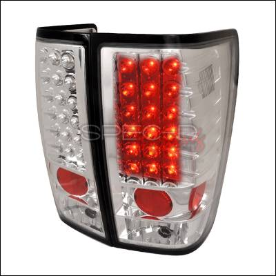Spec-D - Nissan Titan Spec-D LED Taillights - Chrome - LT-TIT04CLED-TM