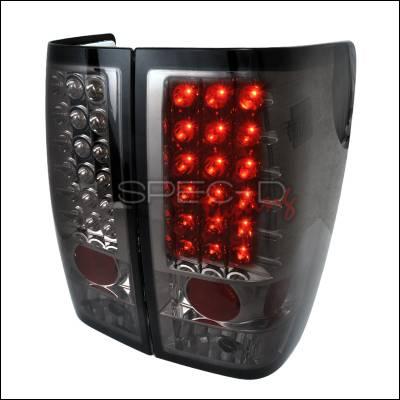 Spec-D - Nissan Titan Spec-D LED Taillights - Smoke - LT-TIT04GLED-TM