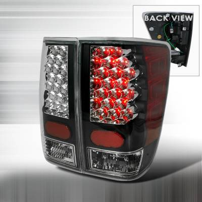 Spec-D - Nissan Titan Spec-D LED Taillights - Black - LT-TIT04JMLED-KS
