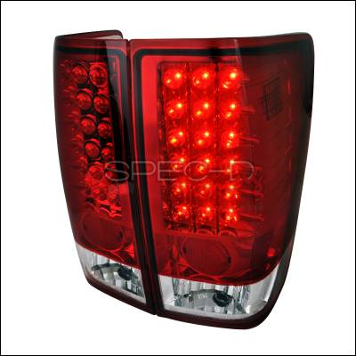 Spec-D - Nissan Titan Spec-D LED Taillights - Red - LT-TIT04RLED-TM