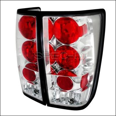 Spec-D - Nissan Titan Spec-D Altezza Taillights - Chrome - LT-TIT04-TM