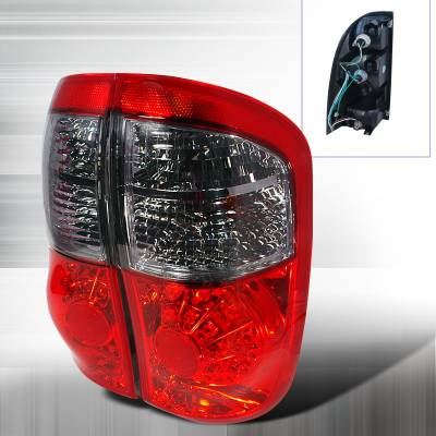Spec-D - Toyota Tundra Spec-D LED Taillights - Red & Smoke - LT-TUN00RGLED-KS