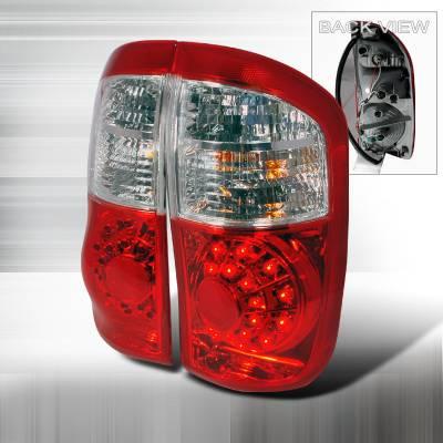 Spec-D - Toyota Tundra Spec-D LED Taillights - Red - LT-TUN00RLED-KS