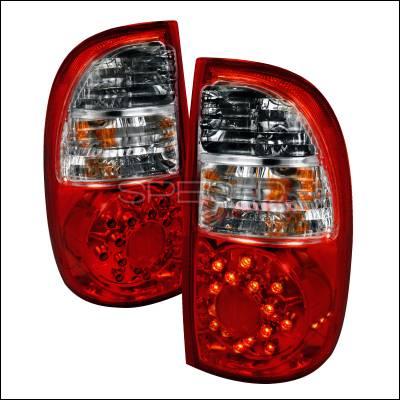 Spec-D - Toyota Tundra Spec-D LED Taillights - Red - LT-TUN05RLED-KS