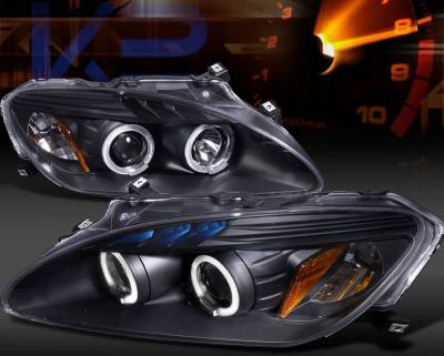 Spyder Auto - Honda S2000 Spyder OEM Amber Headlights - Black - PRO-ON-HS2K04-AM-BK