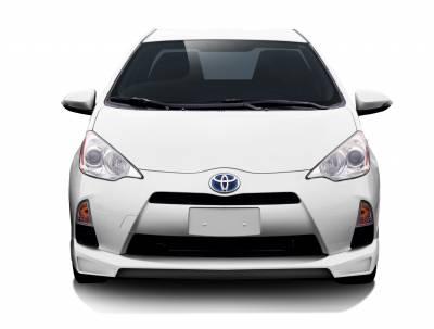 Couture - Toyota Prius Couture Vortex Front Lip Under Air Dam Spoiler - 1 Piece - 112370