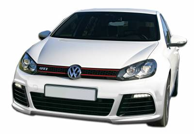 Extreme Dimensions 16 - Volkswagen Golf GTI Duraflex R Look Front Bumper Cover - 1 Piece - 107532