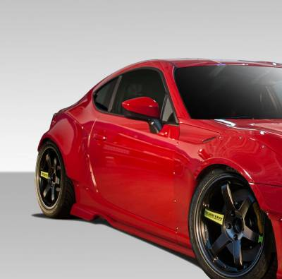 Extreme Dimensions - Subaru BRZ Duraflex GT500 Wide Body Side Splitters - 2 Piece - 109032