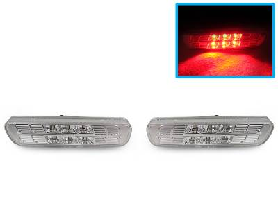 Depo - Lexus RX300 Crystal Clear Red Led DEPO Front Bumper Side Marker
