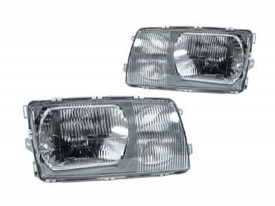 Depo - Mercedes W126 European DEPO Headlight - Set