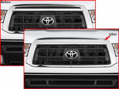 QAA - TOYOTA TUNDRA 2/4dr QAA Stainless 1pcs Grille Accent SG27145