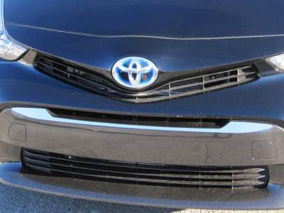 QAA - TOYOTA PRIUS V 4dr QAA Stainless 1pcs Grille Accent SG12700