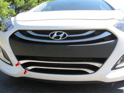 QAA - Fits Hyundai ELANTRA 4dr QAA Stainless 2pcs Grille Accent SG13345
