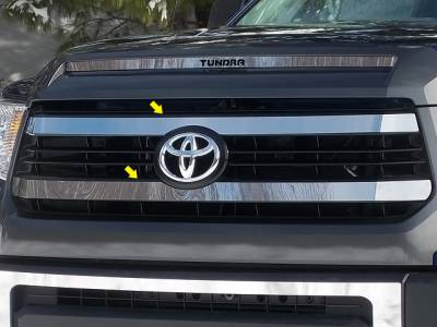 QAA - TOYOTA TUNDRA 2/4dr QAA Stainless 2pcs Grille Accent SG14145