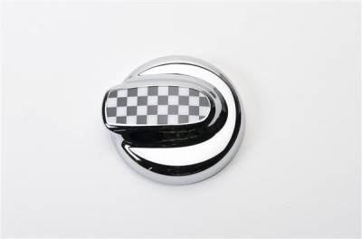 Accessories - Fuel Tank Covers - Putco - Mini Cooper Putco Fuel Tank Door Cover - Checkered Flag - 400528