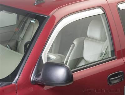 Accessories - Window Visors - Putco - GMC Sierra Putco Element Chrome Window Visors - 480010
