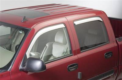 Accessories - Window Visors - Putco - Chevrolet Silverado Putco Element Chrome Window Visors - 480011