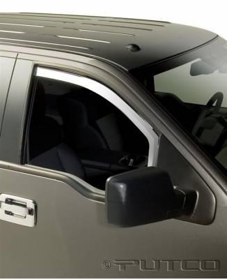 Accessories - Window Visors - Putco - Ford F150 Putco Element Chrome Window Visors - 480018