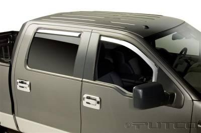 Accessories - Window Visors - Putco - Lincoln Mark Putco Element Chrome Window Visors - 480019