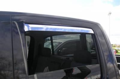 Accessories - Window Visors - Putco - Nissan Titan Putco Element Chrome Window Visors - 480024