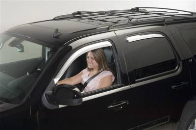 Accessories - Window Visors - Putco - Chevrolet Tahoe Putco Element Chrome Window Visors - 480033