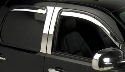 Accessories - Window Visors - Putco - GMC Sierra Putco Element Chrome Window Visors - 480056