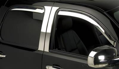 Accessories - Window Visors - Putco - Chevrolet Silverado Putco Element Chrome Window Visors - 480056