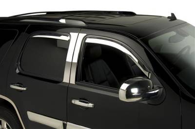 Accessories - Window Visors - Putco - Chevrolet Silverado Putco Element Chrome Window Visors - 480058