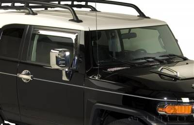 Accessories - Window Visors - Putco - Toyota FJ Cruiser Putco Element Chrome Window Visors - 480059