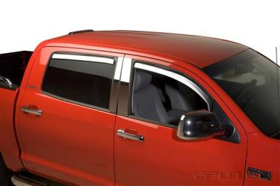 Accessories - Window Visors - Putco - Toyota Tundra Putco Element Chrome Window Visors - 480063