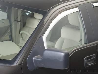 Accessories - Window Visors - Putco - Ford F150 Putco Element Chrome Window Visors - 480111