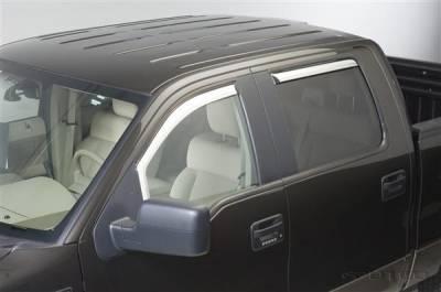 Accessories - Window Visors - Putco - Ford F150 Putco Element Chrome Window Visors - 480112