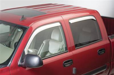 Accessories - Window Visors - Putco - Dodge Ram Putco Element Chrome Window Visors - 480138