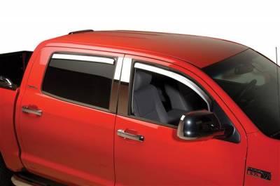 Accessories - Window Visors - Putco - Ford F150 Putco Element Chrome Window Visors - 480144