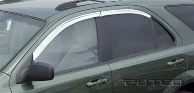 Accessories - Window Visors - Putco - Hyundai Santa Fe Putco Element Chrome Window Visors - 480160